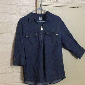 DEMIN tunic blouse.